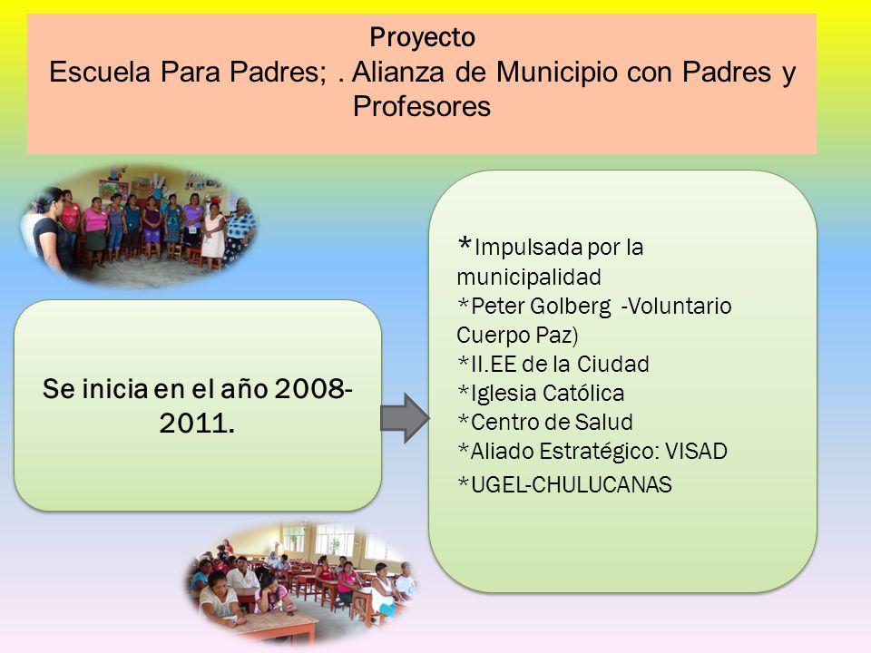 Escuela Para Padres; . Alianza de Municipio con Padres y Profesores