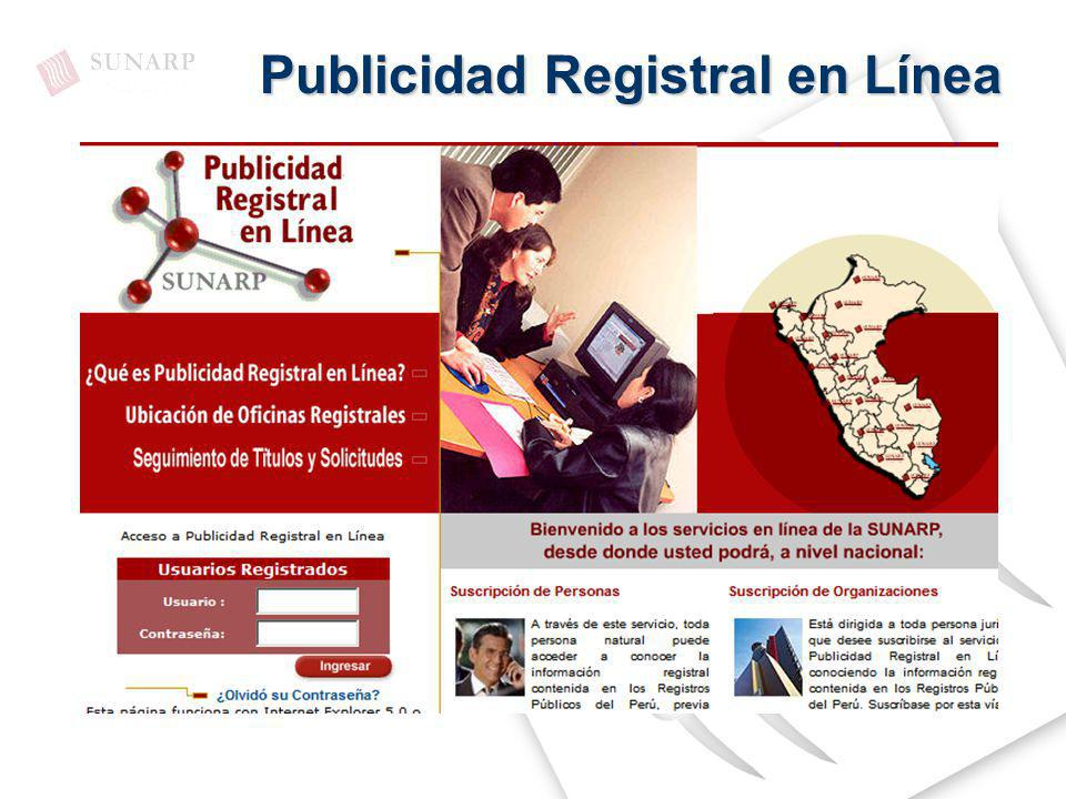 Publicidad Registral en Línea