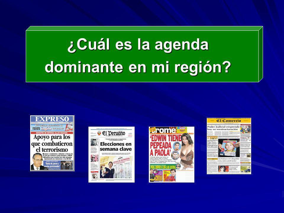 ¿Cuál es la agenda dominante en mi región