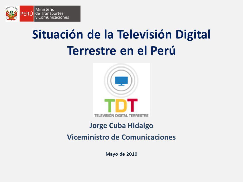 Situación de la Televisión Digital Terrestre en el Perú