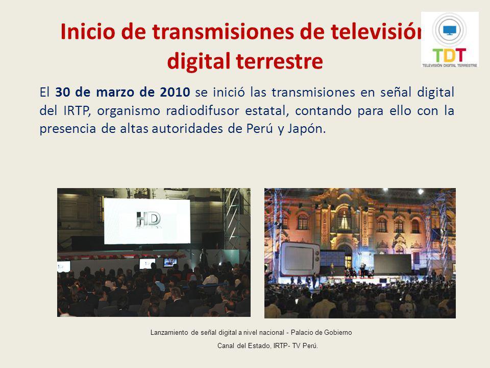 Inicio de transmisiones de televisión digital terrestre
