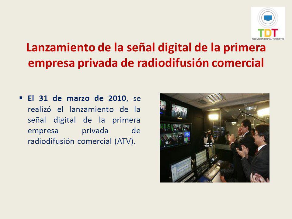 Lanzamiento de la señal digital de la primera empresa privada de radiodifusión comercial