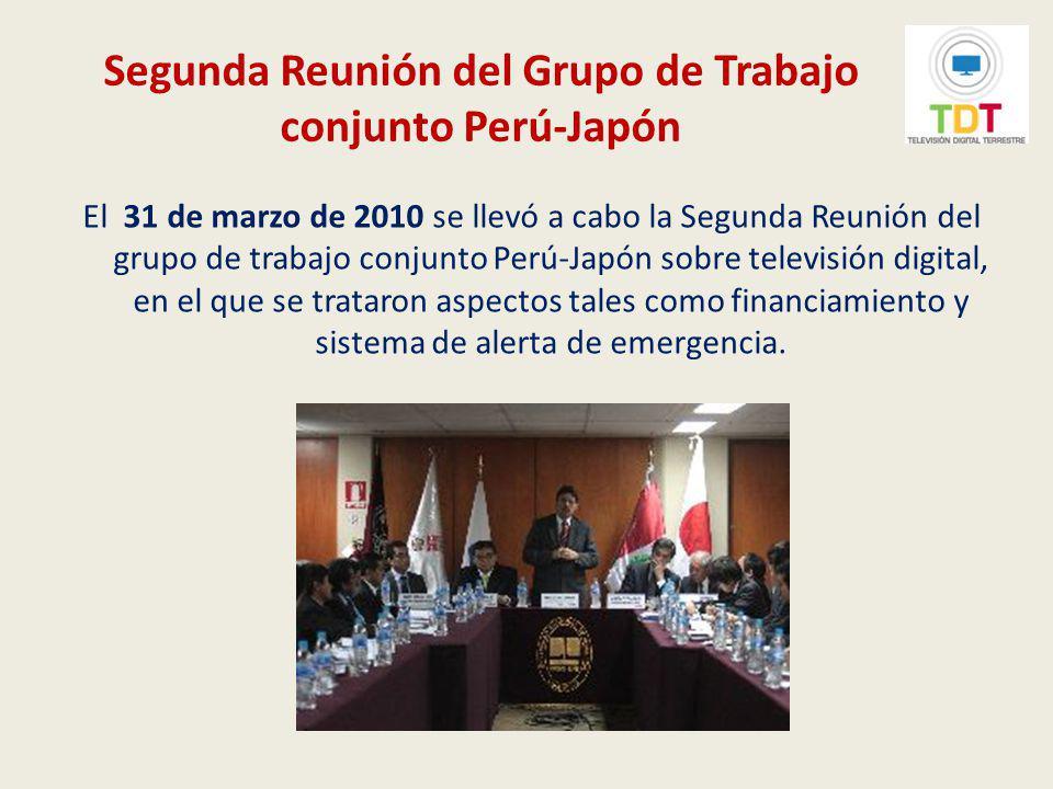Segunda Reunión del Grupo de Trabajo conjunto Perú-Japón