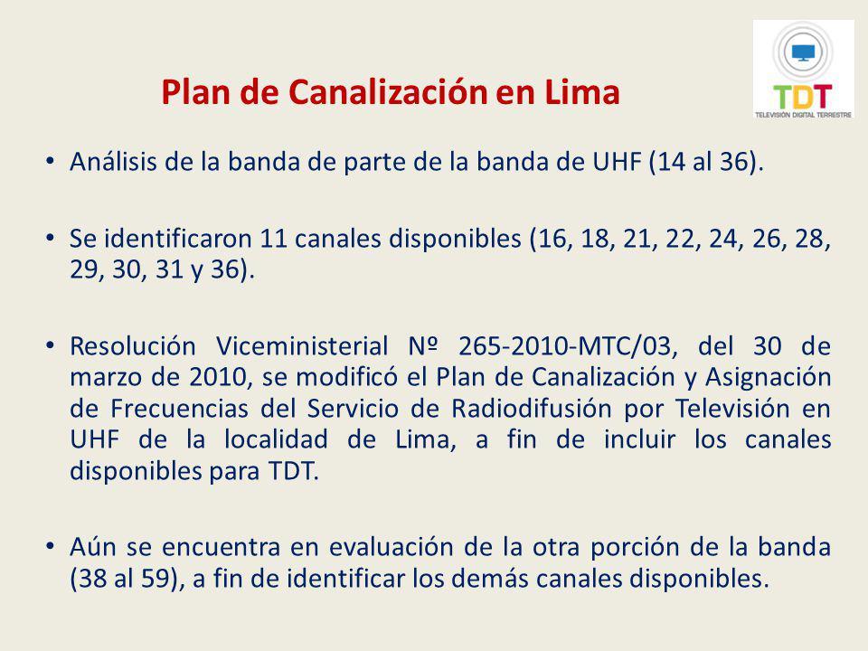 Plan de Canalización en Lima