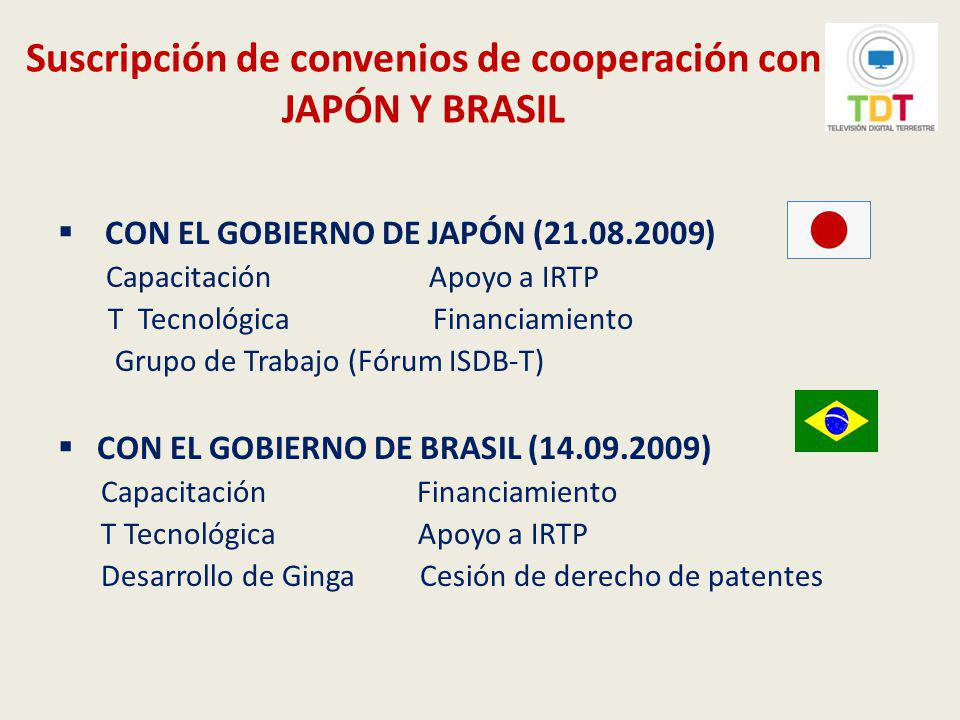 Suscripción de convenios de cooperación con JAPÓN Y BRASIL