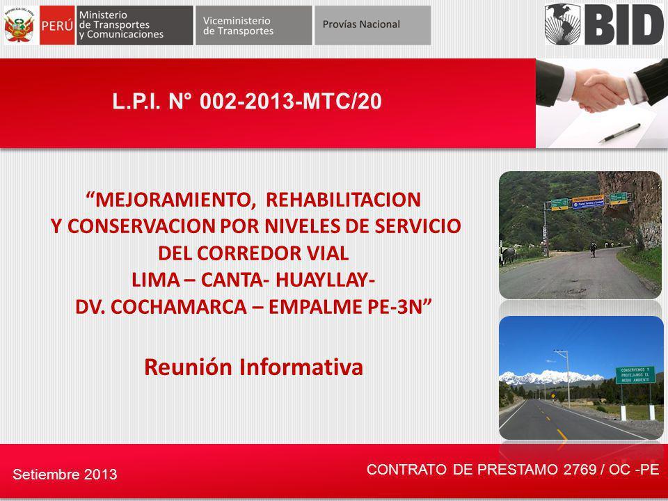Reunión Informativa L.P.I. N° 002-2013-MTC/20