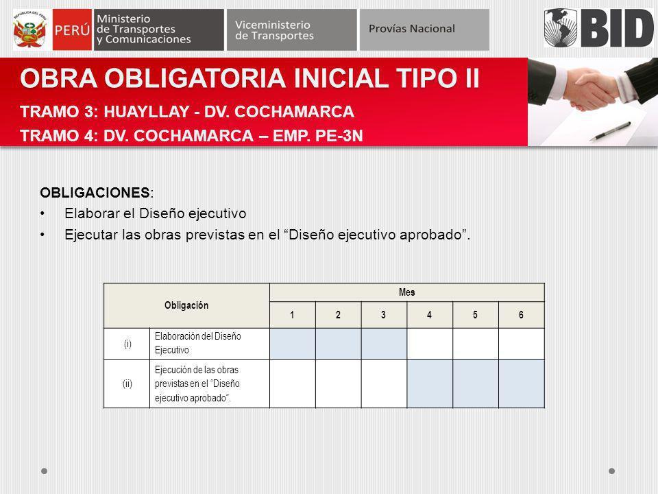 OBRA OBLIGATORIA INICIAL TIPO II