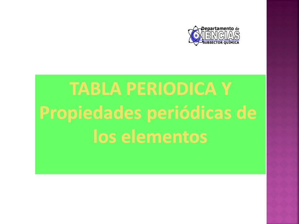 Tabla periodica y propiedades peridicas de los elementos ppt 1 tabla periodica y propiedades peridicas de los elementos urtaz Image collections