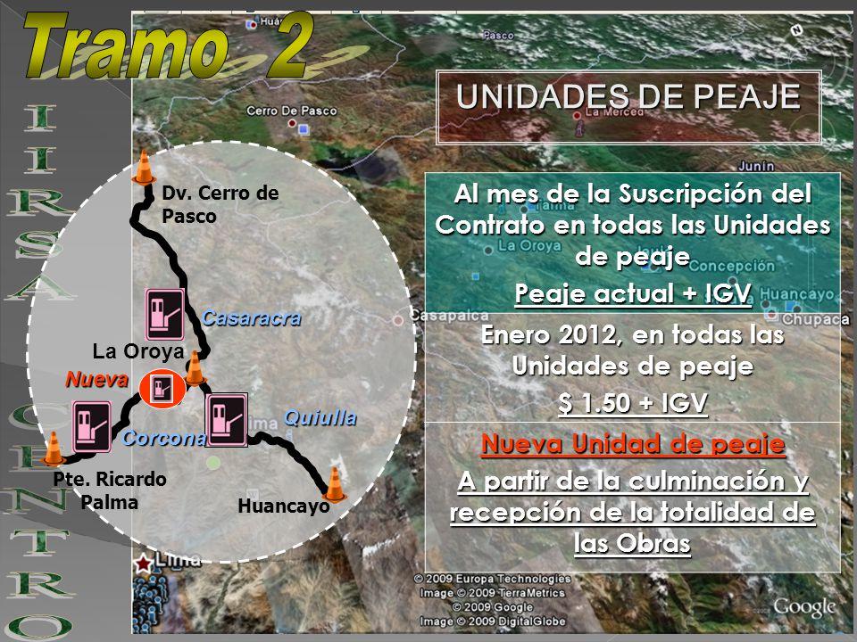 Tramo 2 IIRSA CENTRO UNIDADES DE PEAJE
