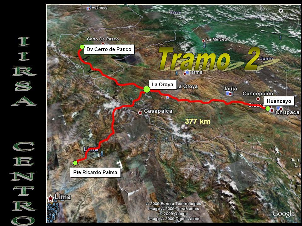 Tramo 2 IIRSA CENTRO 377 km Dv Cerro de Pasco La Oroya Huancayo