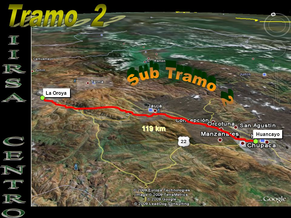 Tramo 2 Sub Tramo 2 La Oroya IIRSA CENTRO 119 km Huancayo