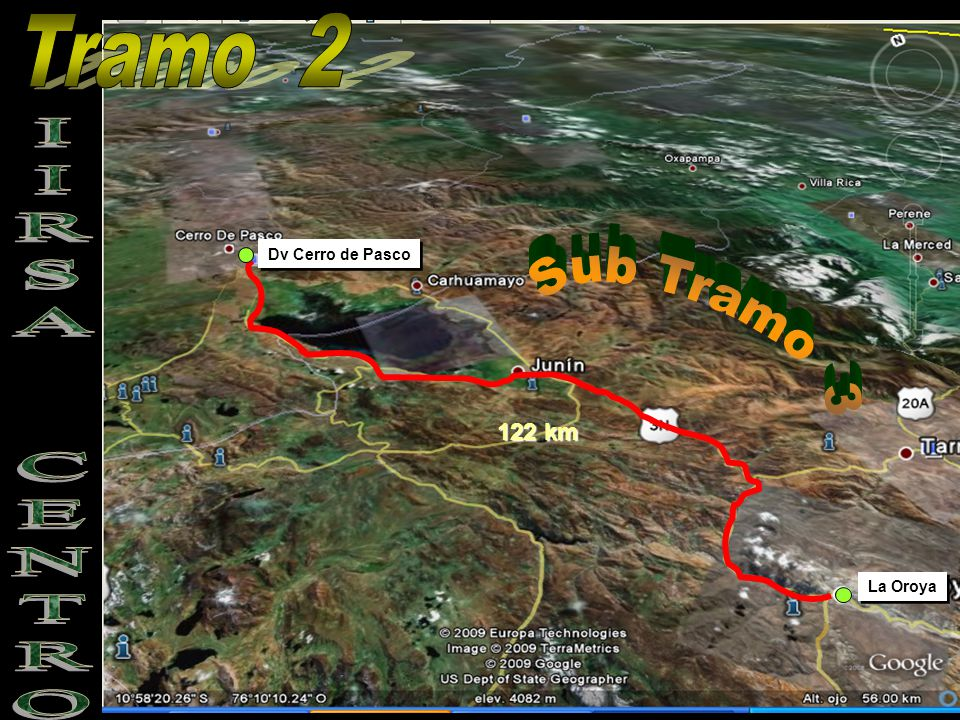 Tramo 2 Dv Cerro de Pasco Sub Tramo 3 IIRSA CENTRO 122 km La Oroya