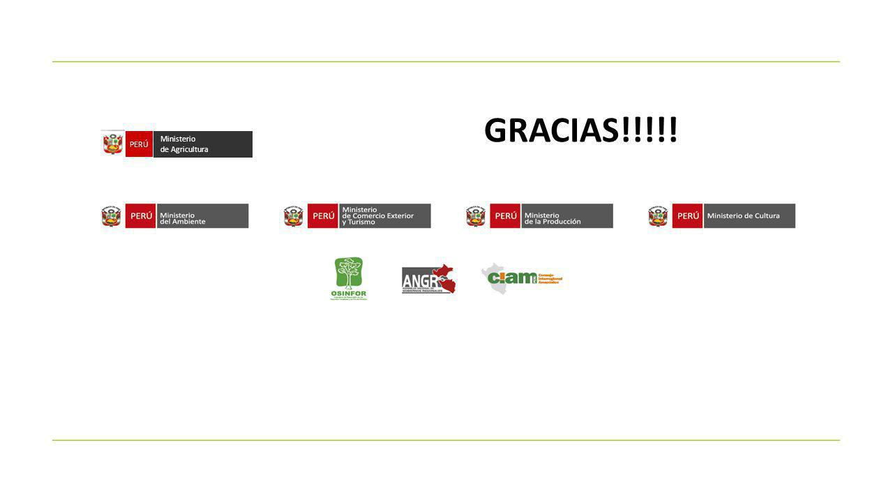 GRACIAS!!!!! PERÚ Ministerio de Agricultura