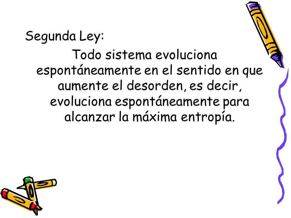 Segunda Ley: