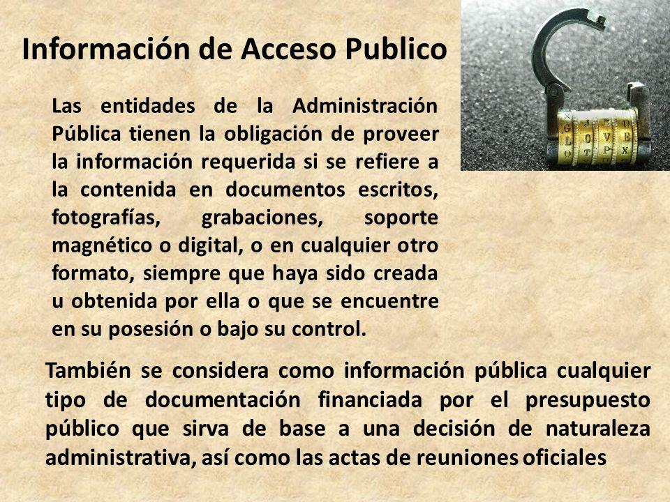 Información de Acceso Publico