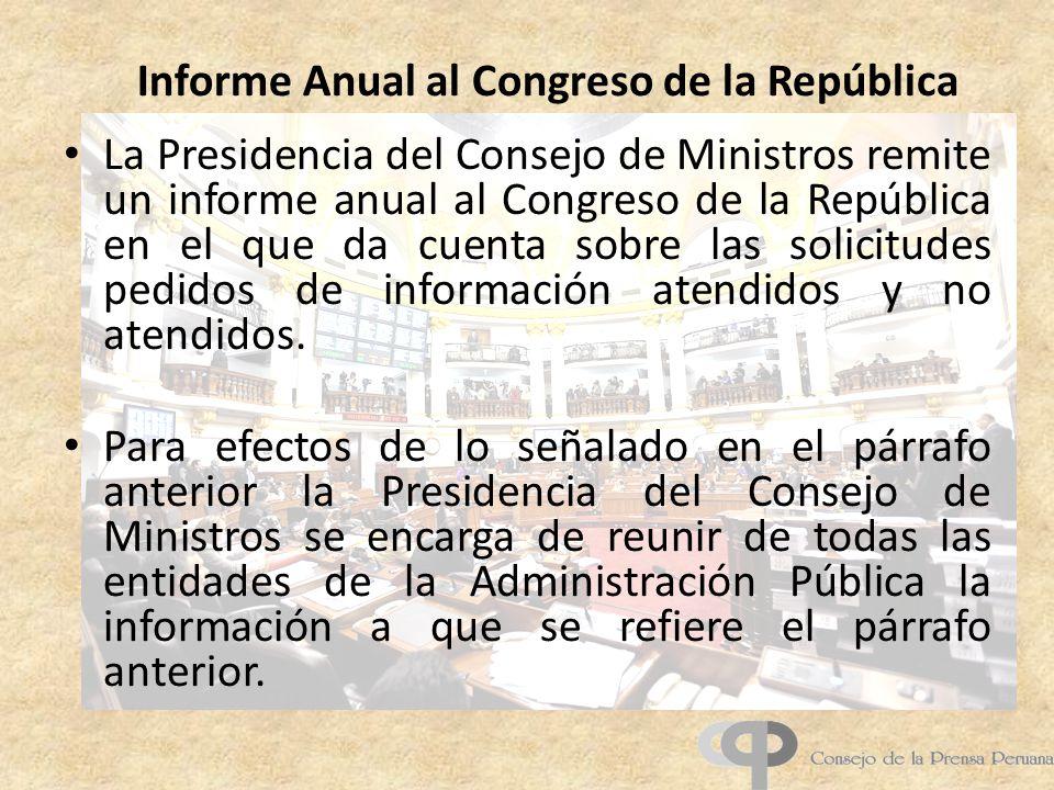 Informe Anual al Congreso de la República