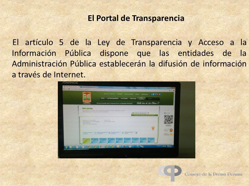 El Portal de Transparencia