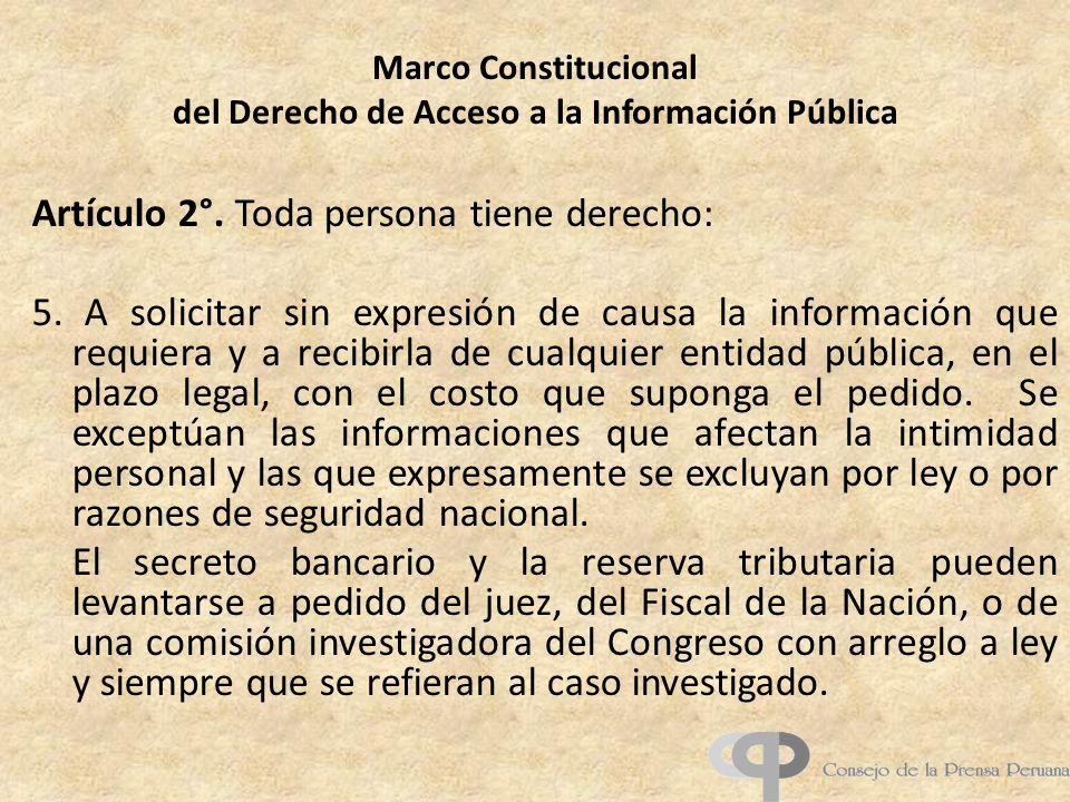 Marco Constitucional del Derecho de Acceso a la Información Pública