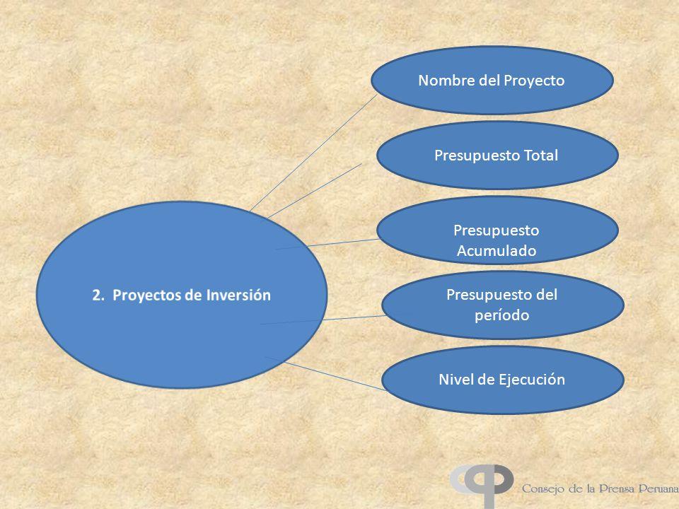 2. Proyectos de Inversión