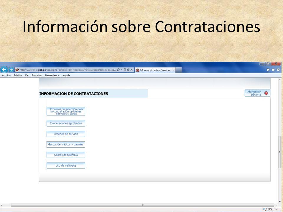 Información sobre Contrataciones