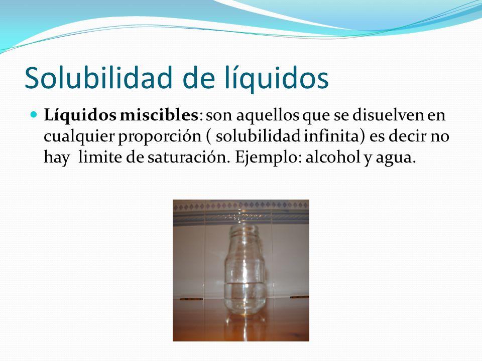 Solubilidad de líquidos