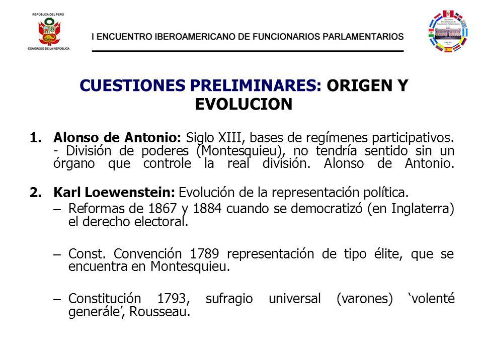 CUESTIONES PRELIMINARES: ORIGEN Y EVOLUCION