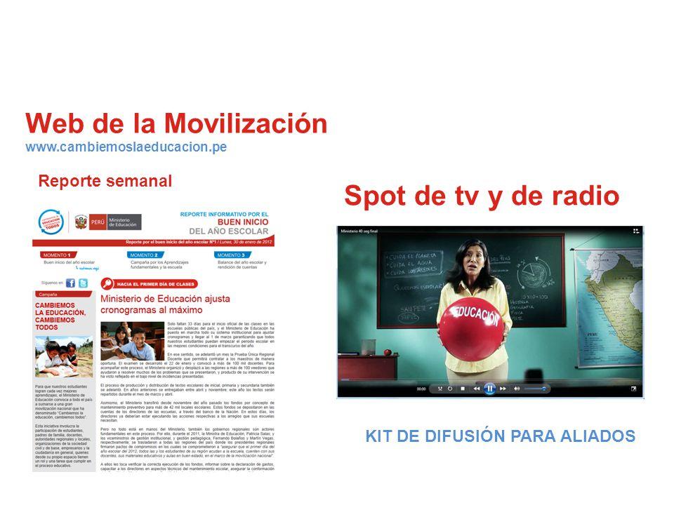 Web de la Movilización www.cambiemoslaeducacion.pe