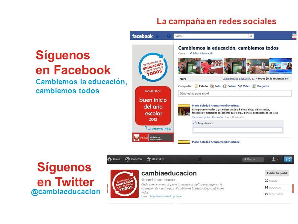 La campaña en redes sociales