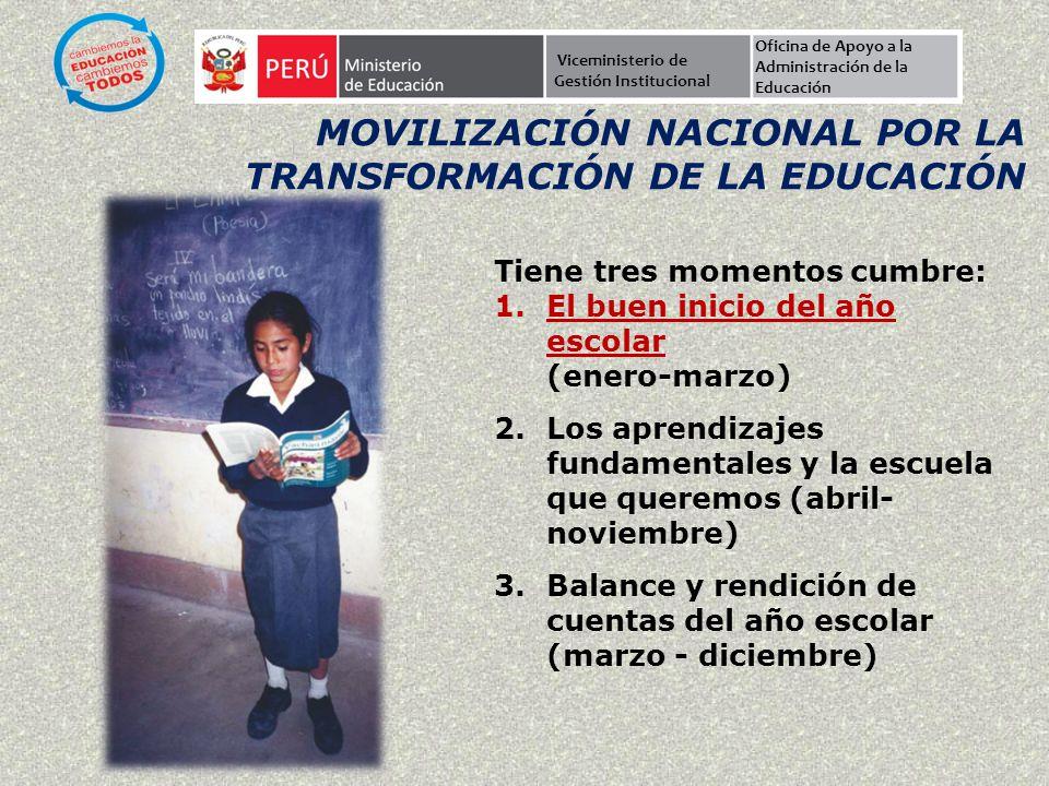 Movilización Nacional por la Transformación de la Educación