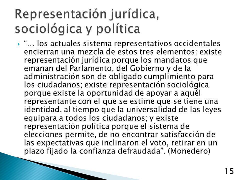 Representación jurídica, sociológica y política