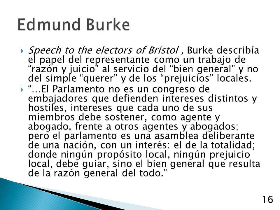 speech to the electors of bristol In lieu of an abstract, here is a brief excerpt of the content: burke_001-050indd 3 5/3/12 9:01 am speech to the electors of bristol [november j, i7741 burke was elected in i765 to the house of commons from the borough of wendover, which was owned by lord verney (its voters were his tenants and did his bidding.