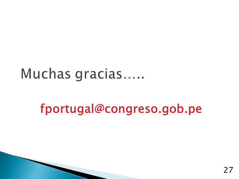 Muchas gracias….. fportugal@congreso.gob.pe