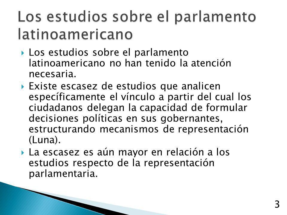 Los estudios sobre el parlamento latinoamericano