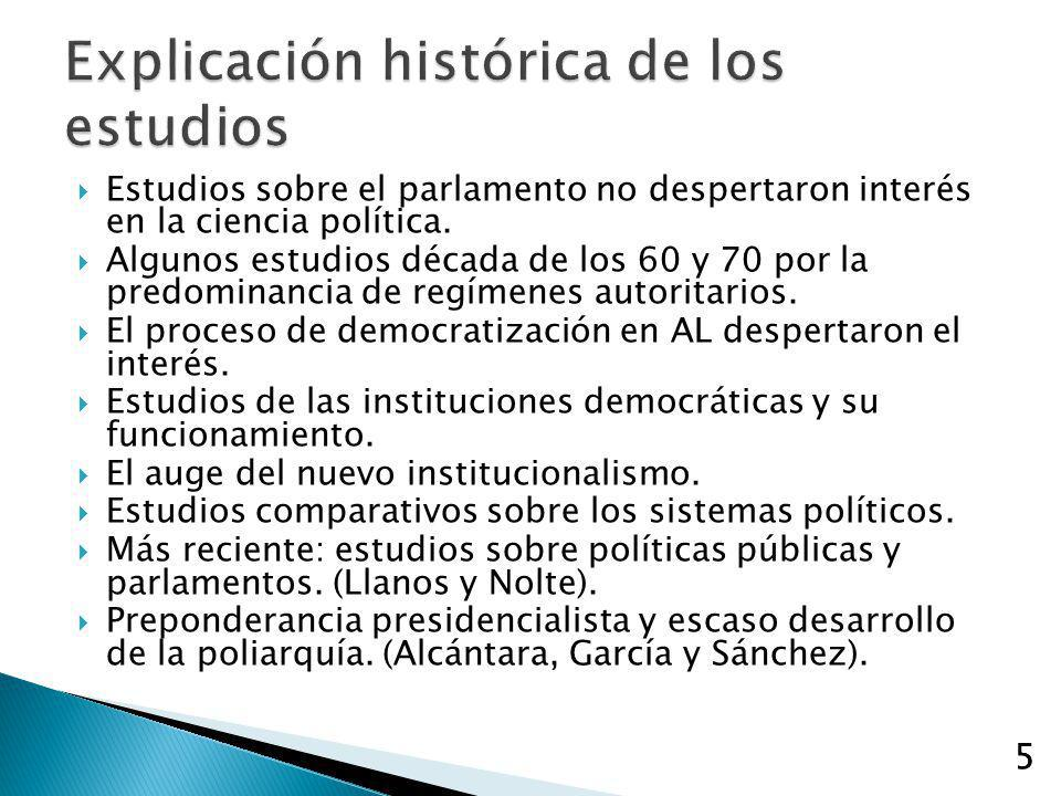 Explicación histórica de los estudios