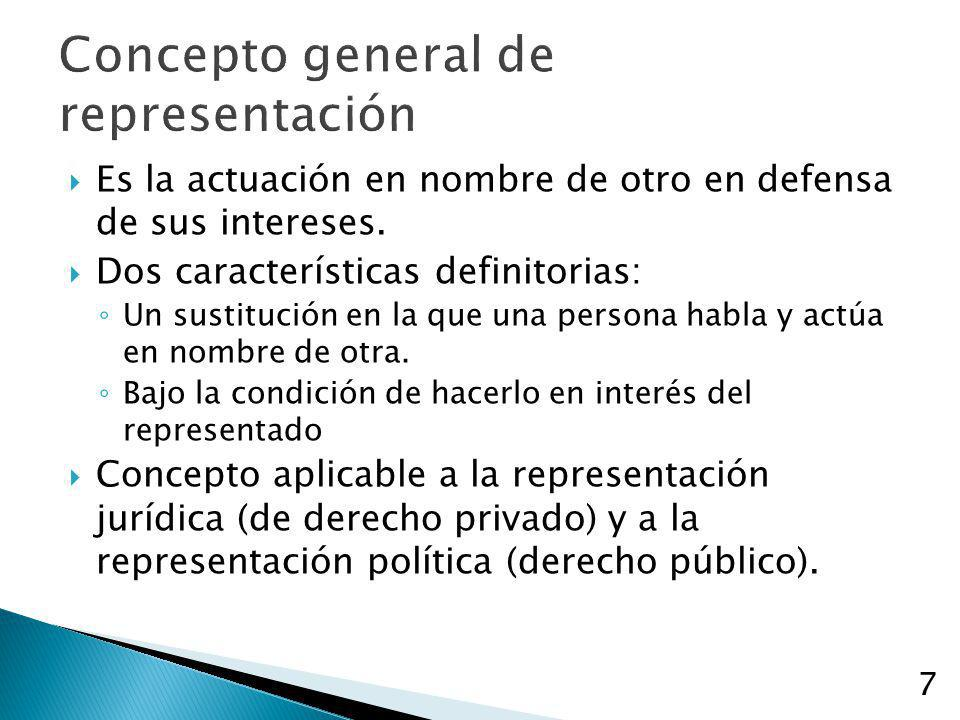 Concepto general de representación