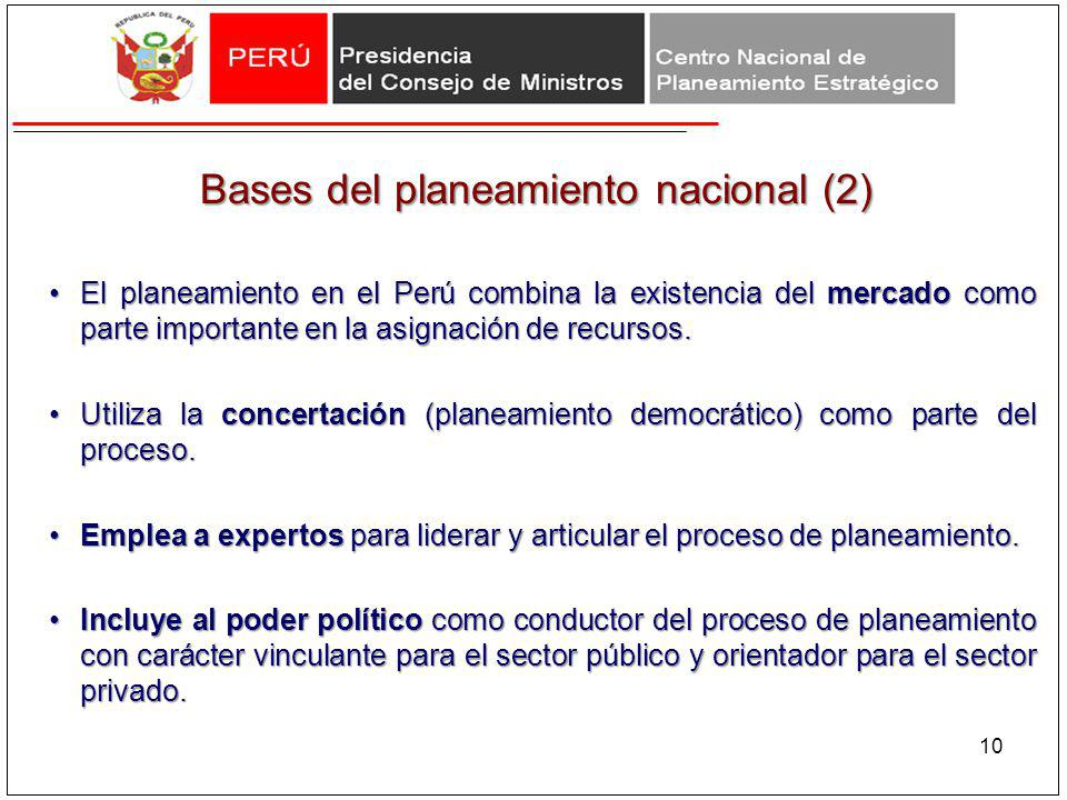 Bases del planeamiento nacional (2)