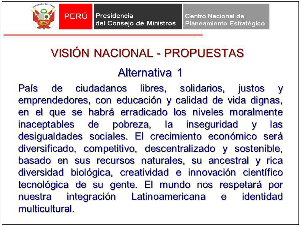 VISIÓN NACIONAL - PROPUESTAS