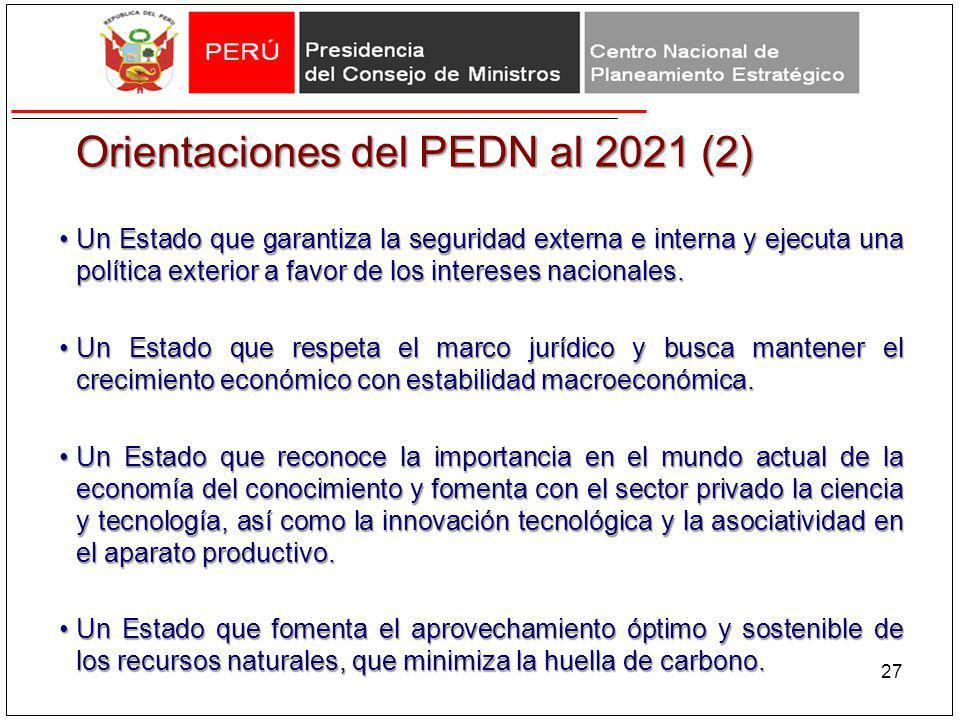 Orientaciones del PEDN al 2021 (2)
