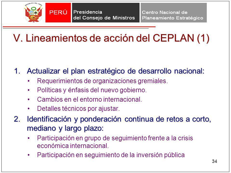 V. Lineamientos de acción del CEPLAN (1)