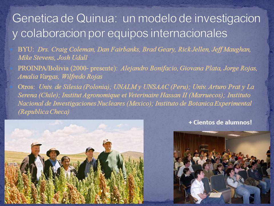 Genetica de Quinua: un modelo de investigacion y colaboracion por equipos internacionales