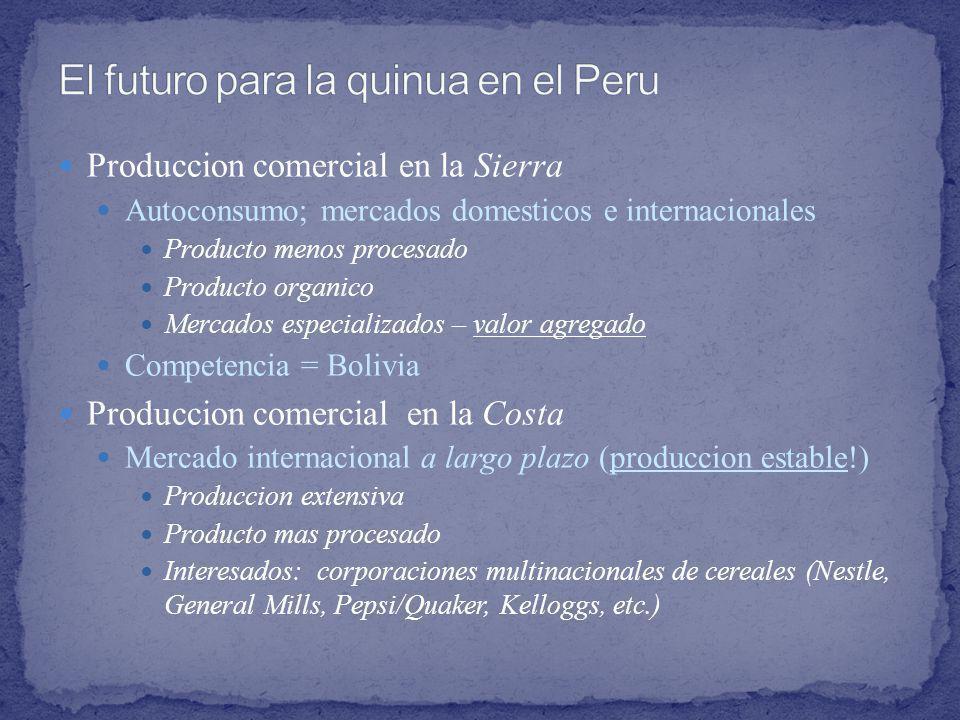 El futuro para la quinua en el Peru