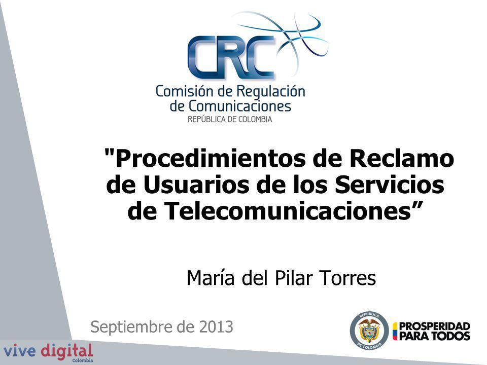 Procedimientos de Reclamo de Usuarios de los Servicios de Telecomunicaciones