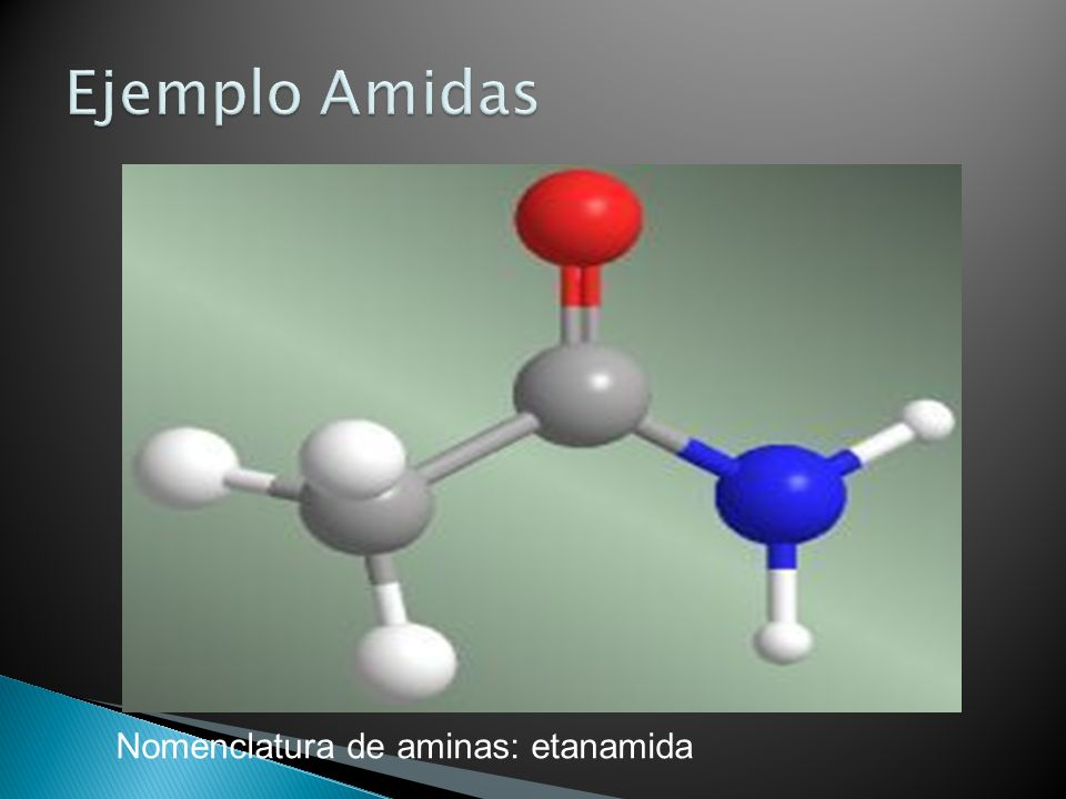 Ejemplo Amidas Nomenclatura de aminas: etanamida