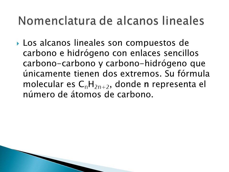 Nomenclatura de alcanos lineales