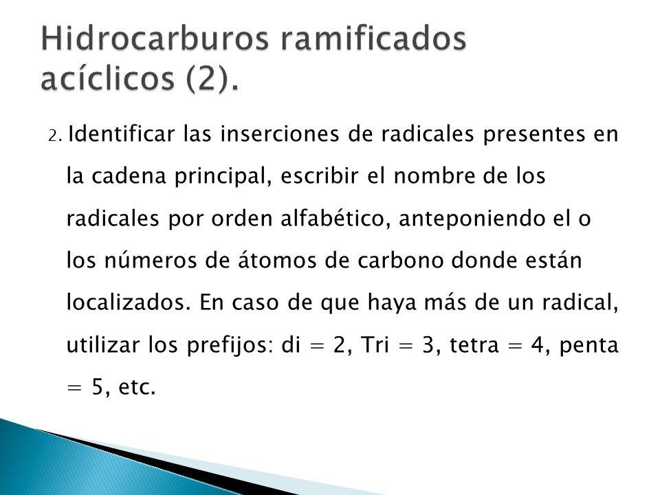Hidrocarburos ramificados acíclicos (2).