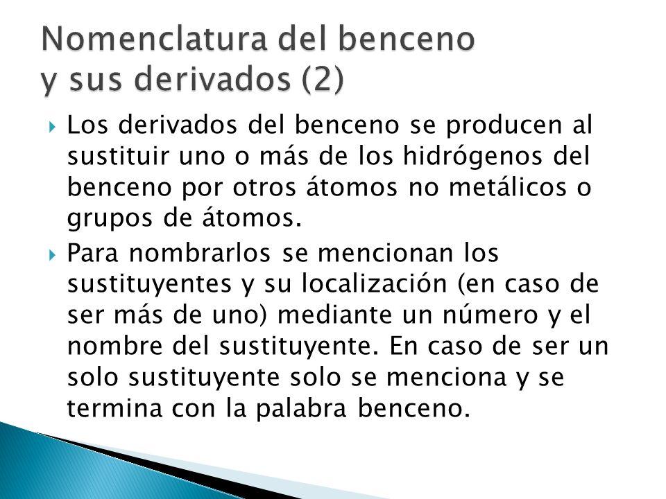 Nomenclatura del benceno y sus derivados (2)