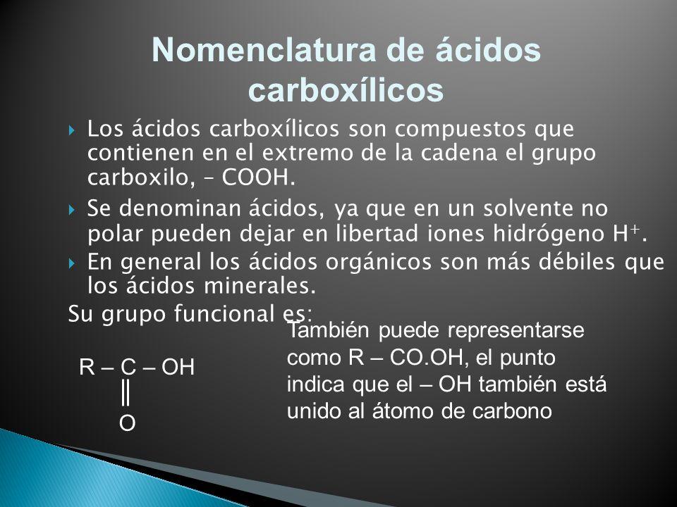 Nomenclatura de ácidos carboxílicos