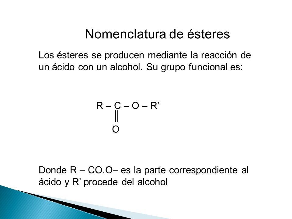 Nomenclatura de ésteres