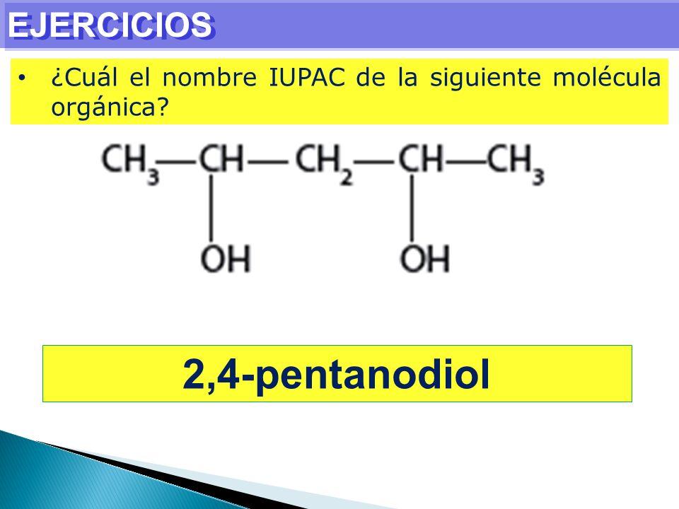 2,4-pentanodiol EJERCICIOS