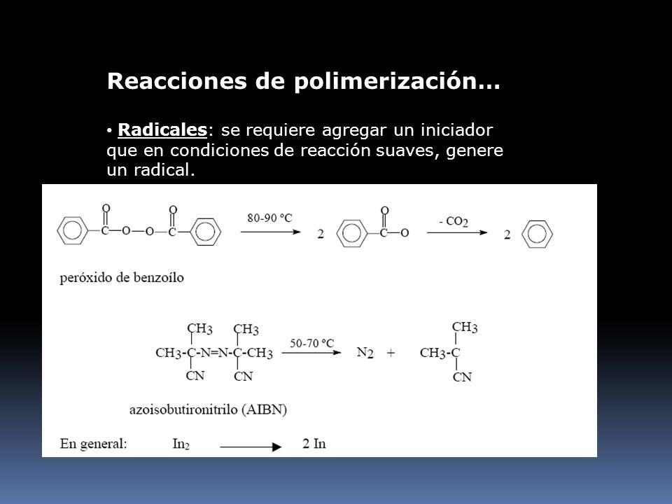 Reacciones de polimerización…